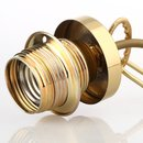 E27 Lampen Kettenpendel messing poliert 1m lang mit Metall Baldachin Tulpenform