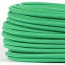 Textilkabel Stoffkabel grün 3-adrig 3x0,75...