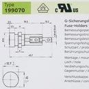 SIBA 199070 Sicherungshalter für 5x20 Feinsicherung löt und steckbar