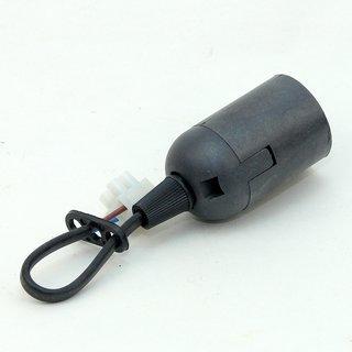 E27 Lampen Renovierfassung Baustellen-Fassung Kunststoff schwarz 15cm lang T210°/100W