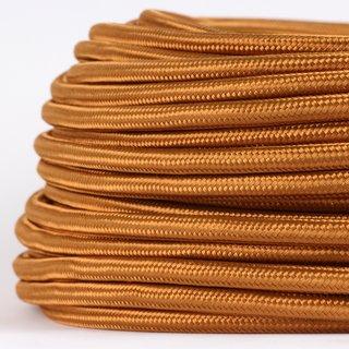 Textilkabel Stoffkabel englisch gold 3-adrig 3x0,75 Gummischlauchleitung 3G 0,75 H03VV-F textilummantelt