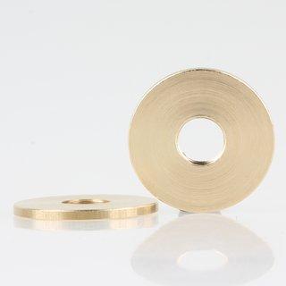 Rundmutter Metall Messing roh 29x2mm M10x1 Feingewinde