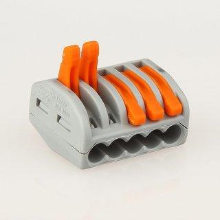 222-415 Wago Universal Verbindungsklemme 5-polig für alle Leitungsarten