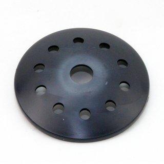 Kuppelscheibe Abschlußscheibe Kaschierung Kunststoff schwarz mit Lochmuster Durchmesser 62x7mm