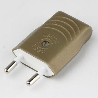 Eurostecker Europa-Flachstecker gold 250V/2A