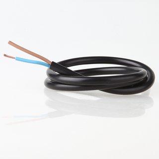 PVC Lampenkabel Rundkabel schwarz 2-adrig, 2x0,75mm² H03 VV-F